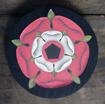 Sacred Rose Pentacle Plaque