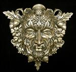 Green Man Plaque -Cold Cast Bronze Finish