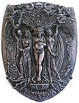 Triple Goddess Plaque -Stone Finish 