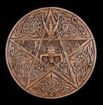 God and Goddess Pentacle Plaque - Wood Finish