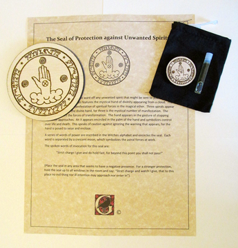"Laser-crafted Magical ""Seal of Protection against Unwanted Spirits"" Kit"
