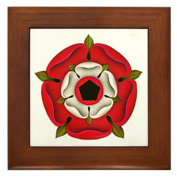 Sacred Rose - Framed Tile