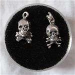 Antique Sterling Skull & Crossbones Charms
