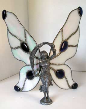 Pewter Fairy w/ Purple and White wings