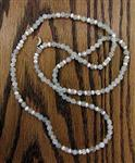 Necklace - Endless Moonstone and Button Pearl