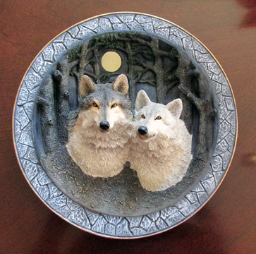 Mated Pair- Wolf Wall Plaque