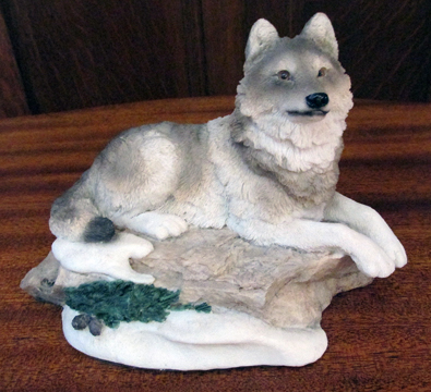 Solitary Wolf Statue