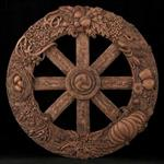 Plaque - Wheel of the Year-Wood Finish